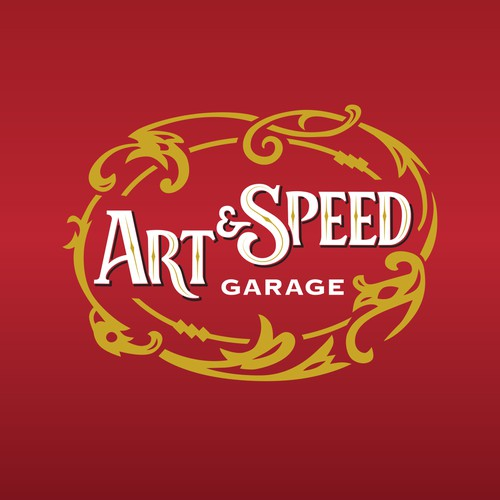 Retro Sign for Art&Speed Garage