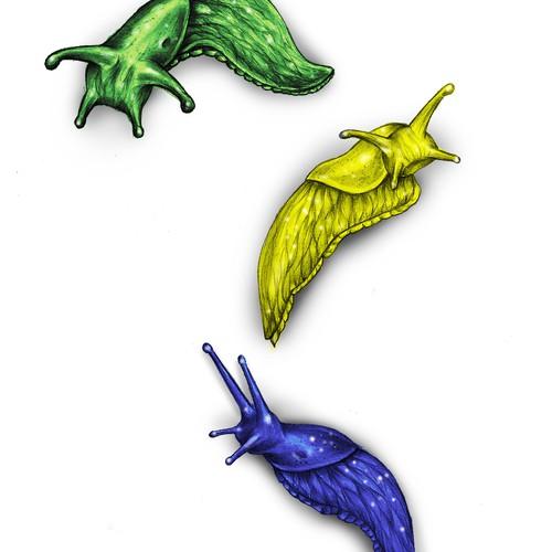 3 Slugs Tattoo Design