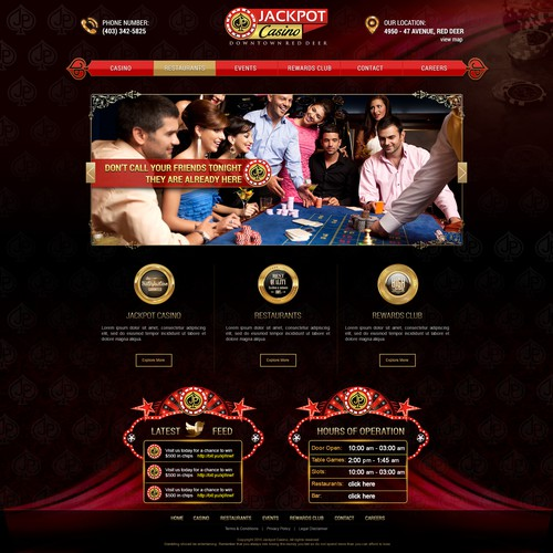 Jackpot Casino Website Design