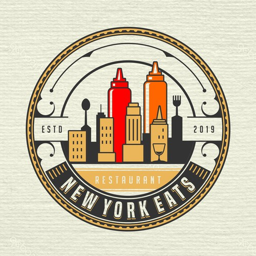 NEW YORK Restaurant Vintage Classic Logo