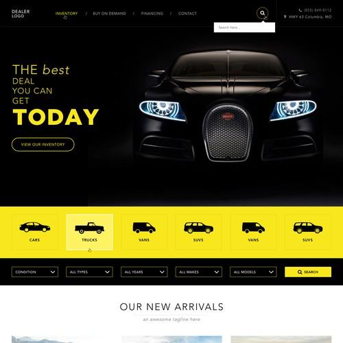Car Dealership Website UI