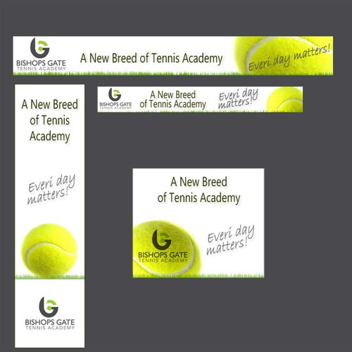 Create a banner ad for Bishops Gate Tennis Academy
