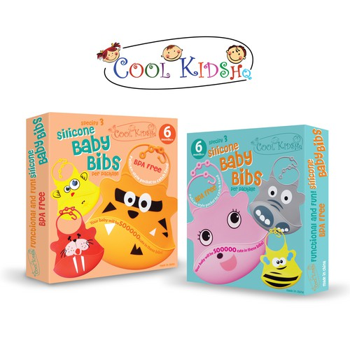 Cool Kids HQ Baby Bibs