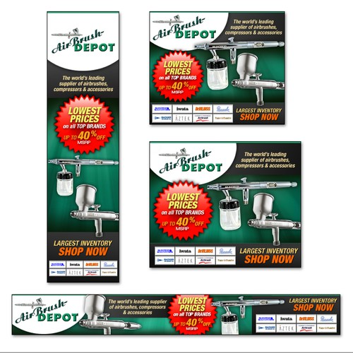 Banner ad campaign for AirBrush Depot