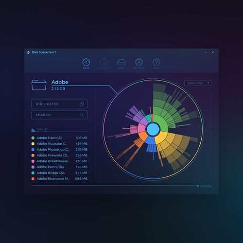 Disk Space Fan Redesign