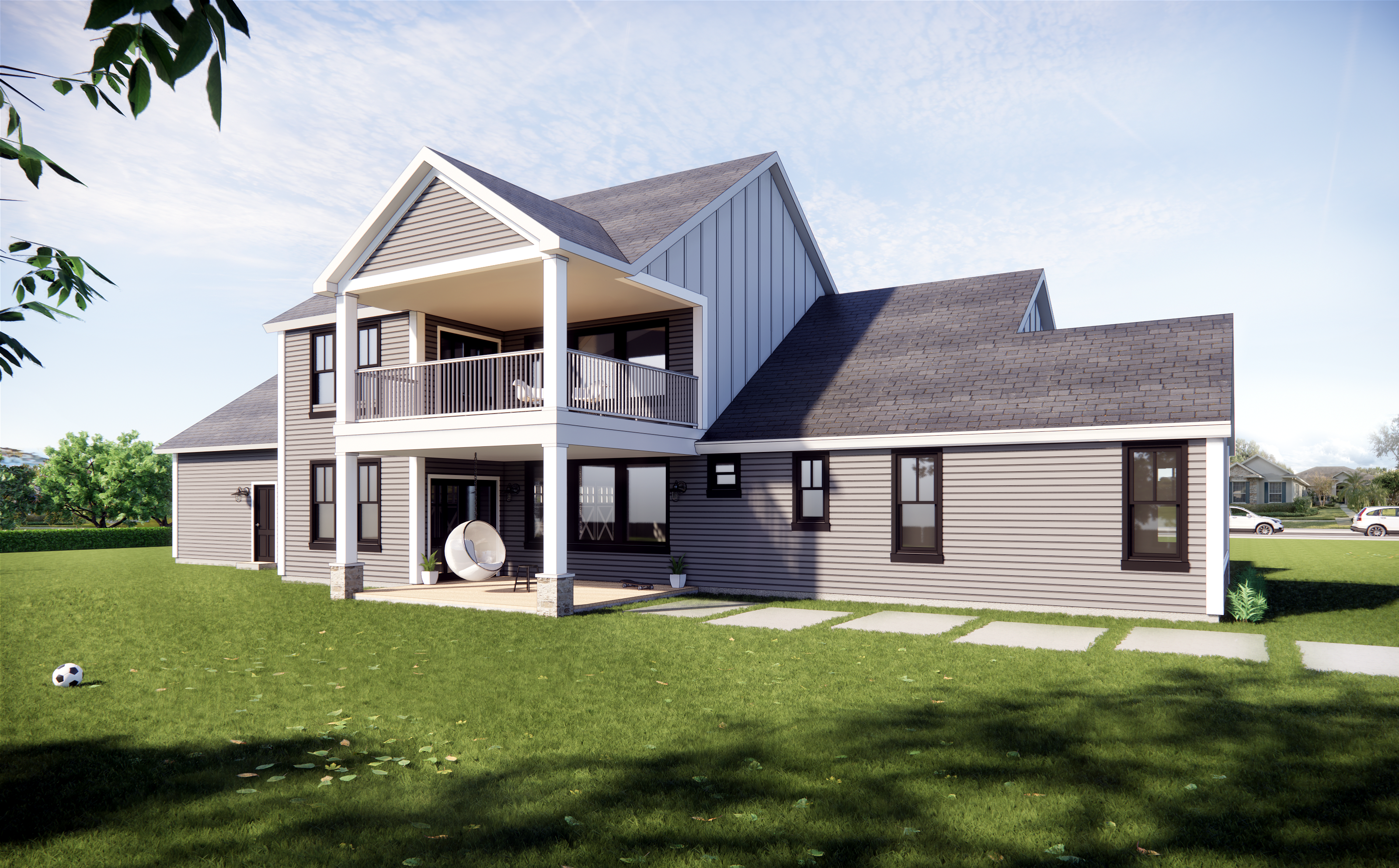 Architectural 3D visualizations of single family houses