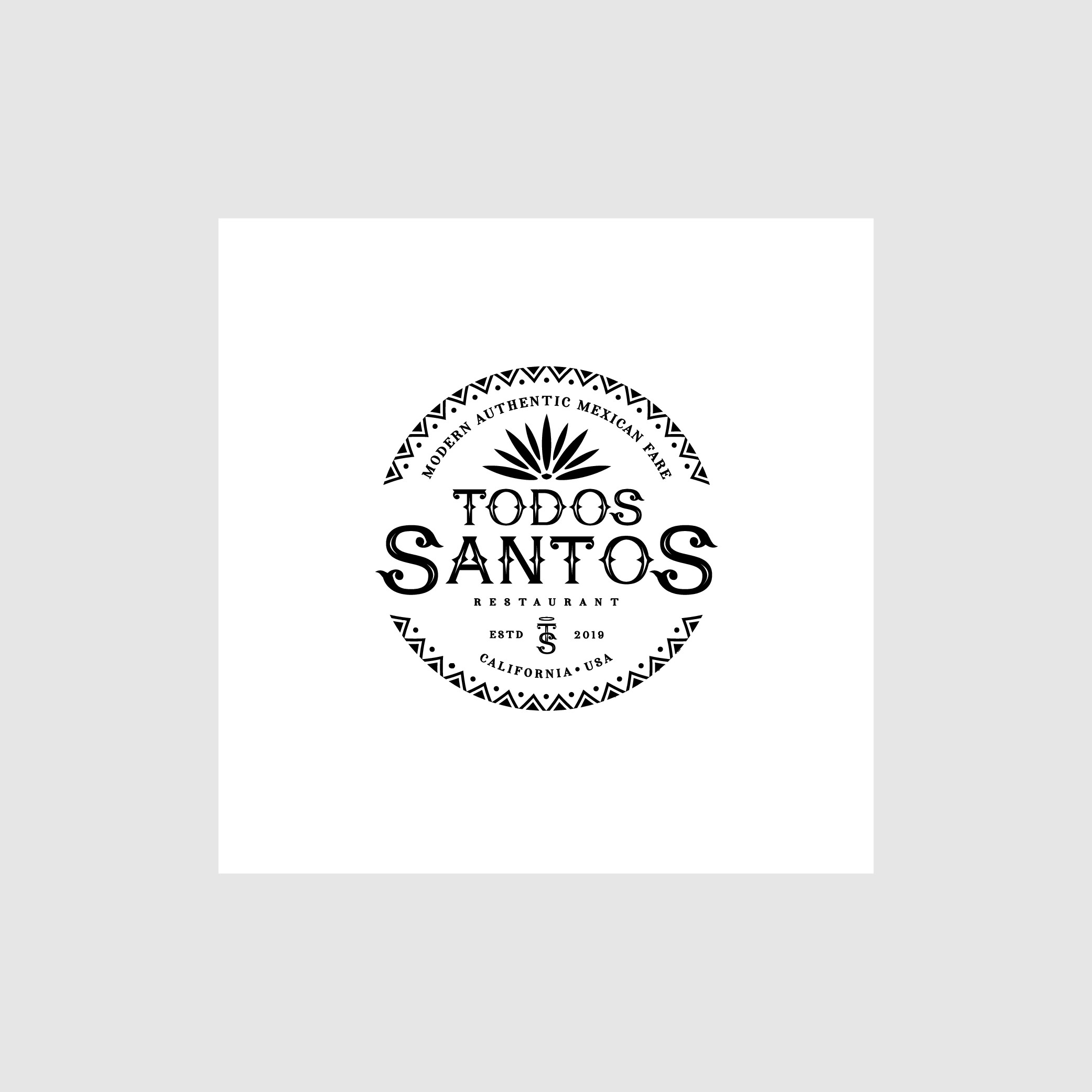 Logo For Rustic/Upscale/Modern/ Mexican Restaurant Launching in California