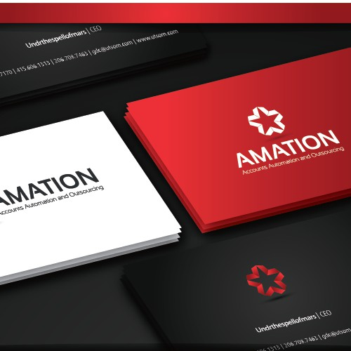 Create an impactful and forever lasting logo for Amation - Accounts Automation and Outsourcing
