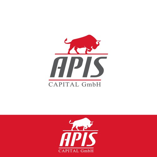 Bold & strong logo for Apis Capital GmbH