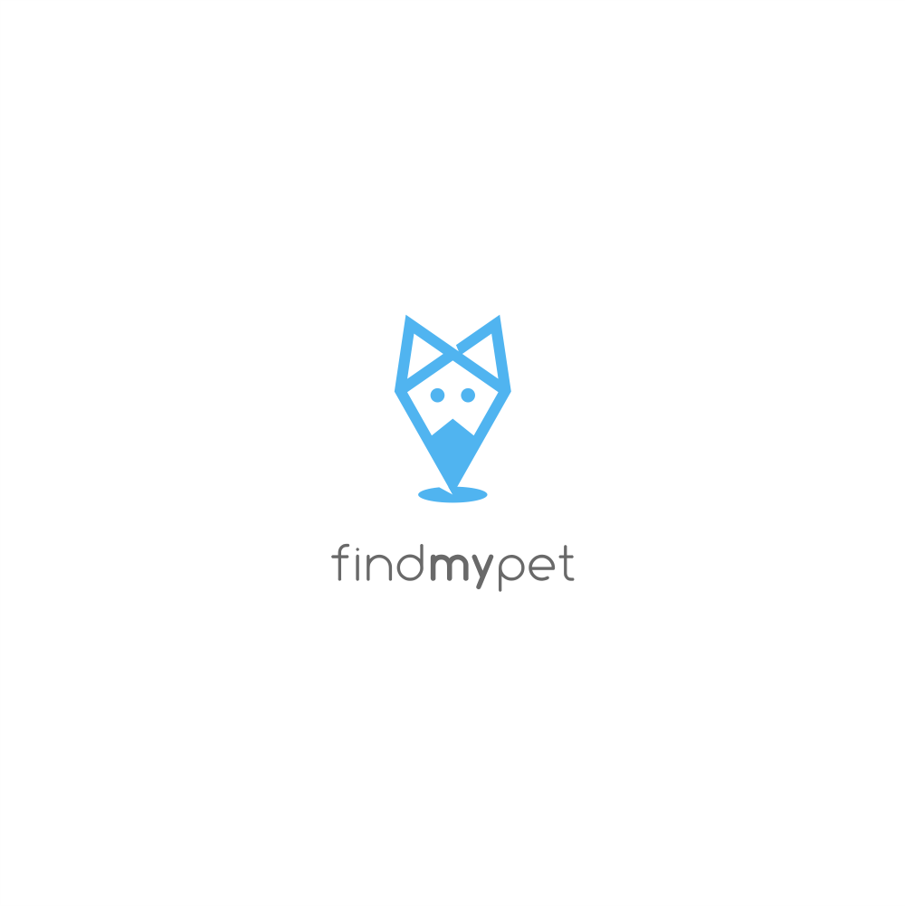 Create a modern logo for implantable dog/cat gps