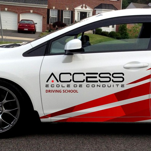 Car Vinyl design for Access driving school