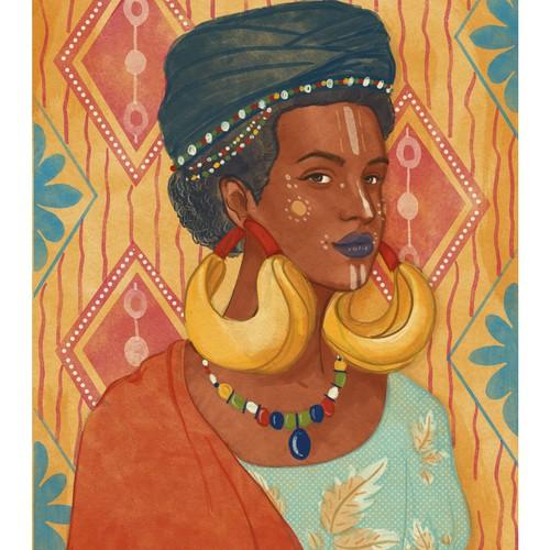 Portrait of Fulani Woman