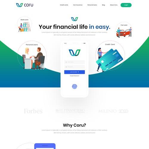 Financial website