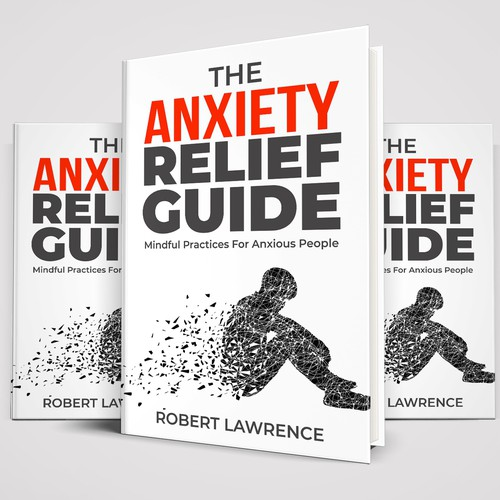 Design a non-fiction book cover on anxiety.