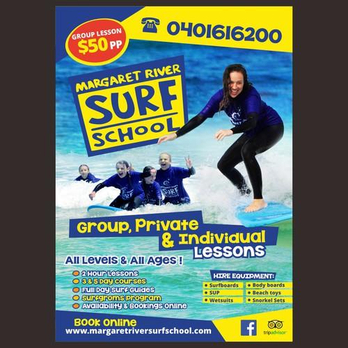 Poster design for Margaret River Surf School