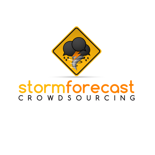 Logo for a system that generates storm forecasts through crowdsourcing