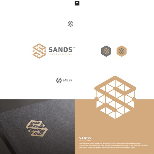 Tessellated S logo for tech distribution services