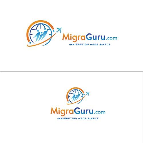 immigration concept logo