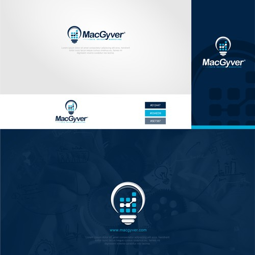 Logo concept for marketing company  MacGyver