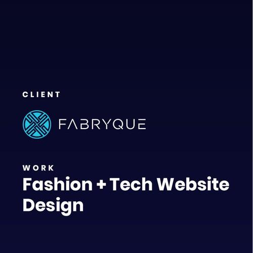 Homepage design for a fashion tech brand