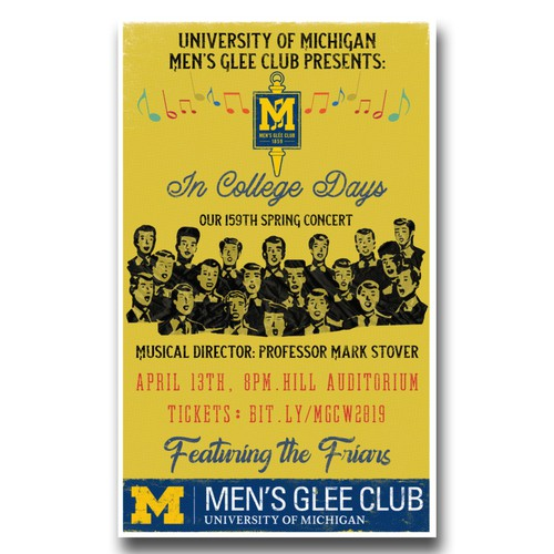 University of Michigan Men Glee Club Spring Concert Poster