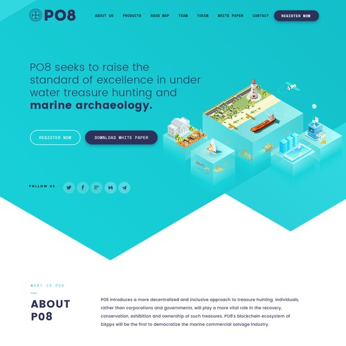 ICO Website, Illustrations Design and HTML