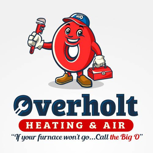 Mascot with Custom Logo for Overholt Heating and Air