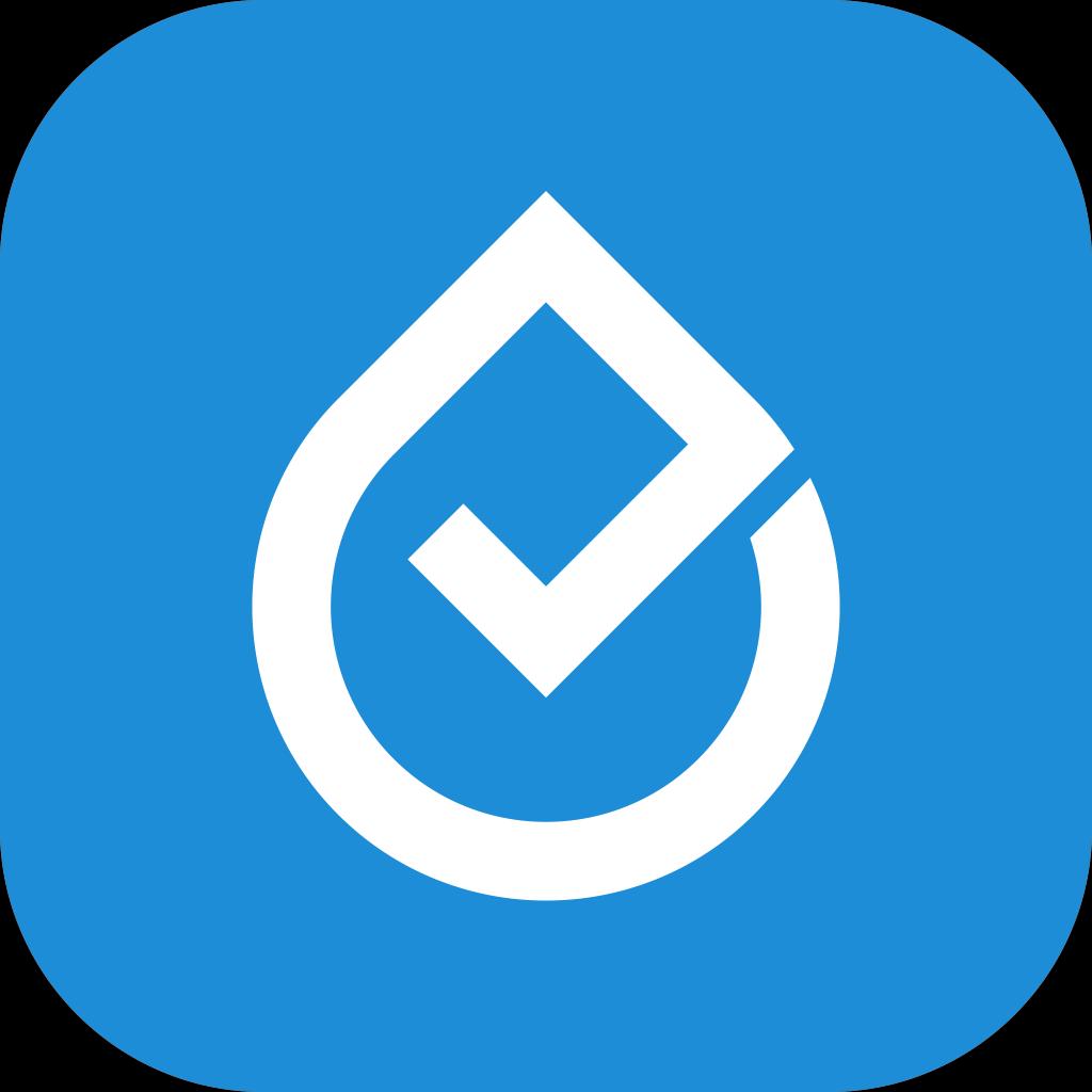 Cleanes, modernes Logo für eine Hygiene-App