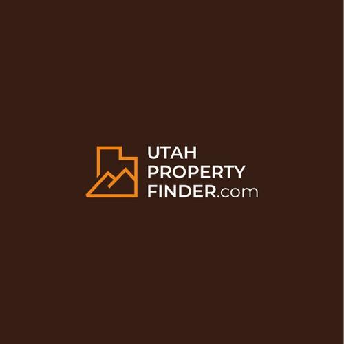 Lineart logo for real estate company: Utah Property Finder