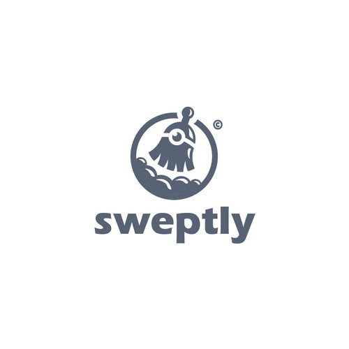Character logo for Cleaning Service Company that called Sweptly