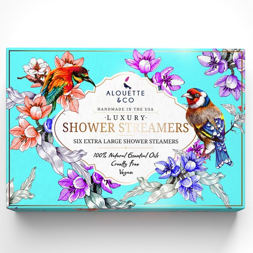 Design Beautiful Colorful Shower Steamer Gift Box