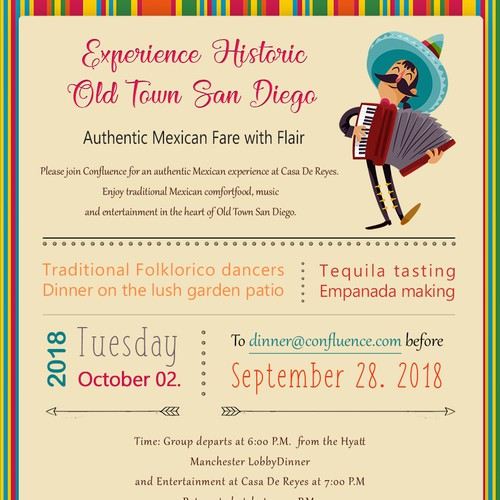 Design a Mexican Restaurant Dinner Invitation