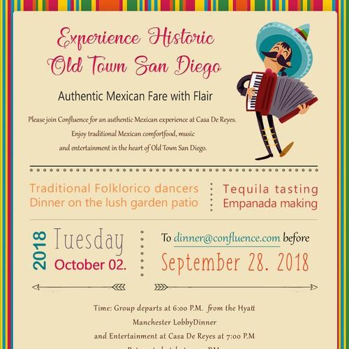 Design a Mexican Restaurant Dinner Invitation