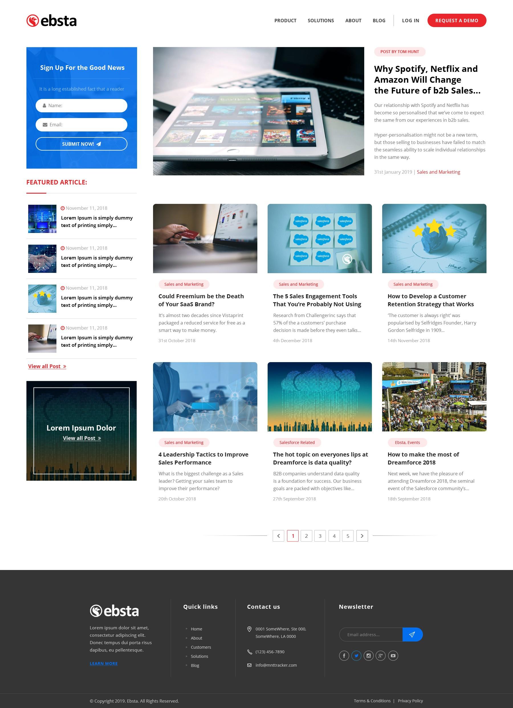 Website Redesign For B2B SAAS Biz Heading For Hypergrowth