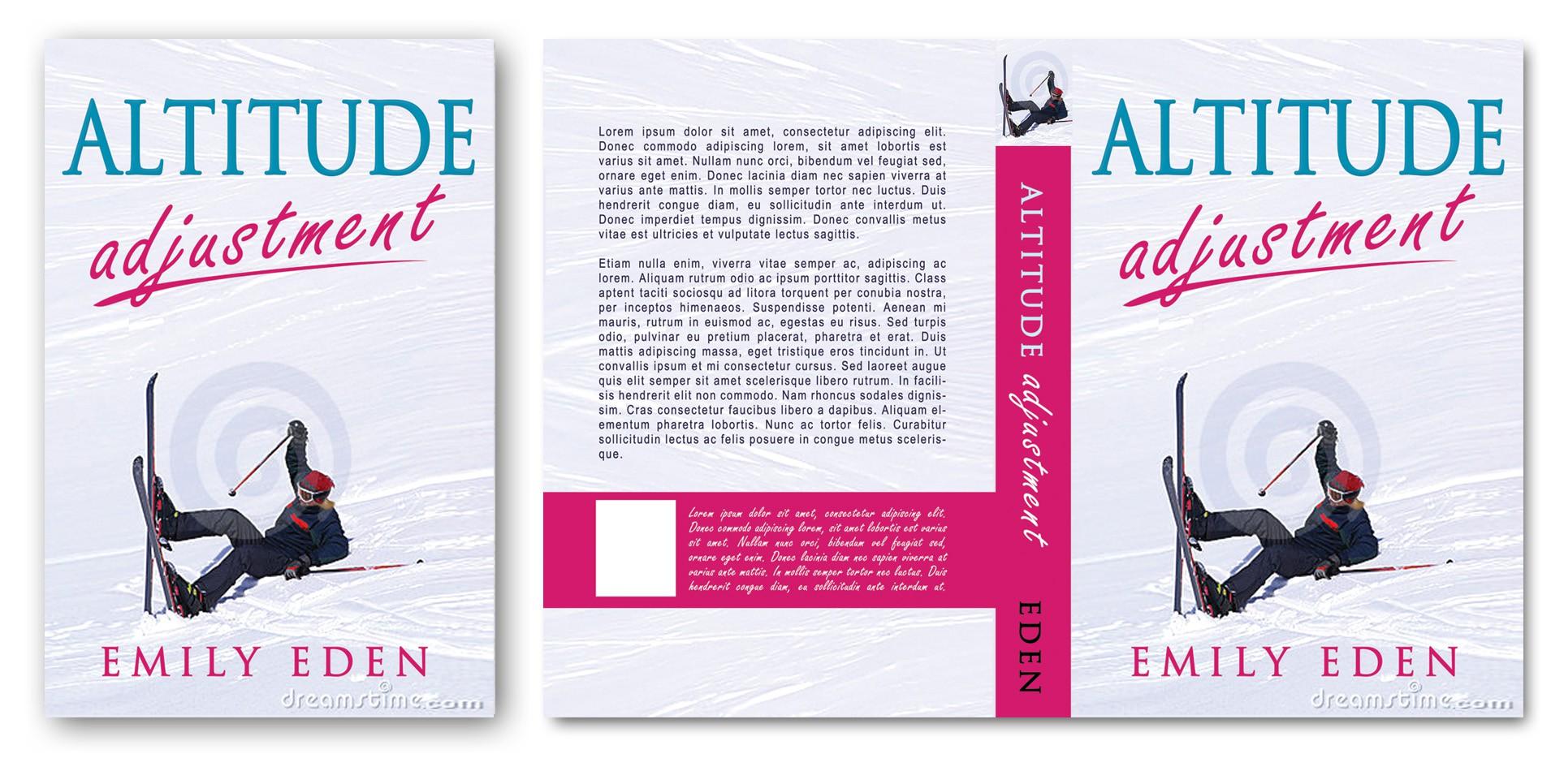 """BOOK COVER DESIGN for humorous memoir """"Altitude Adjustment"""""""