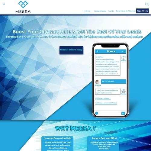 Website design for AI Company