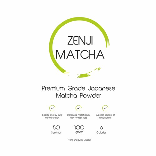 Zen Concept for Tea powder