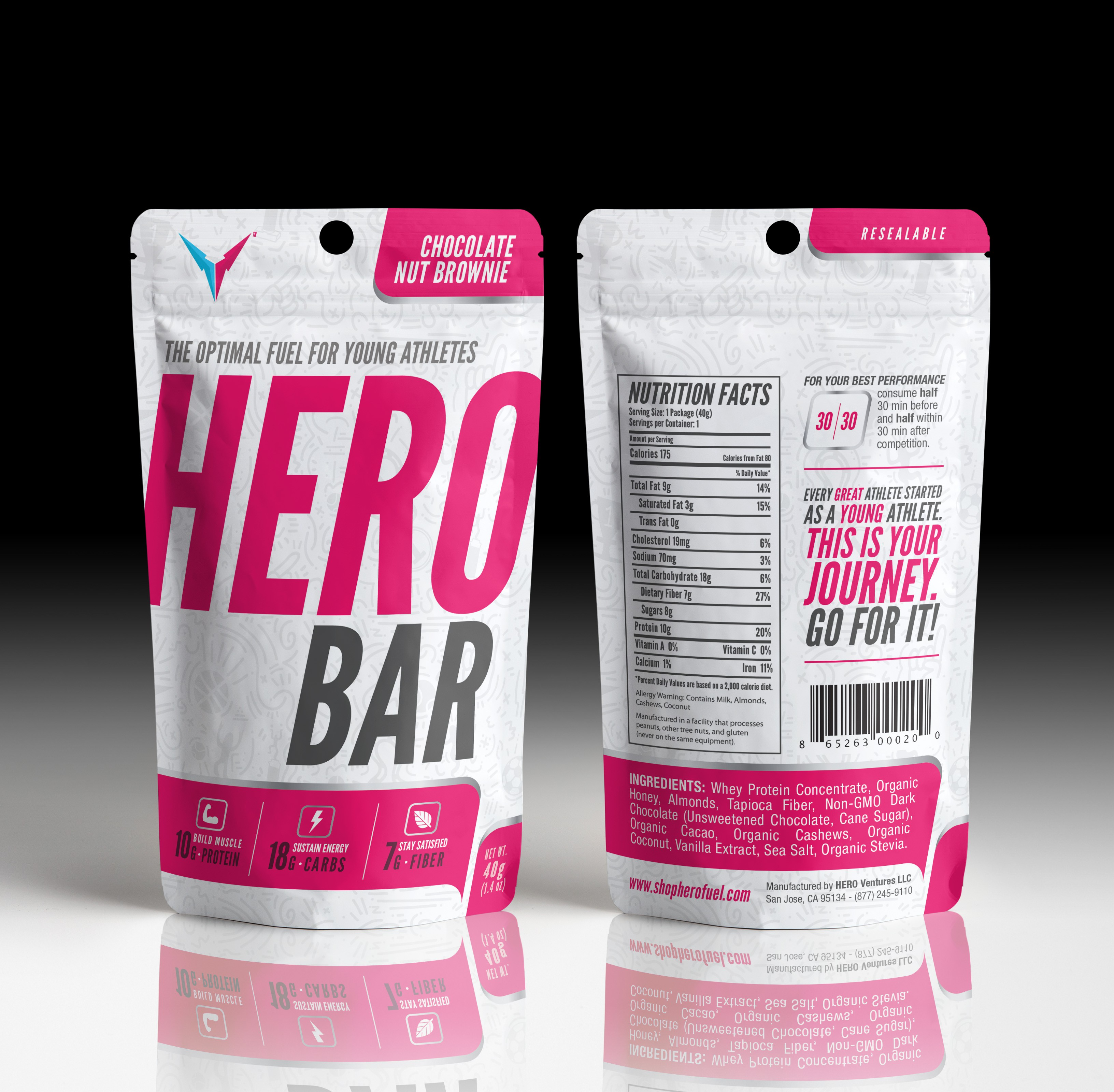 HERO Bar-Design a bold package for a nutrition bar for young athletes!