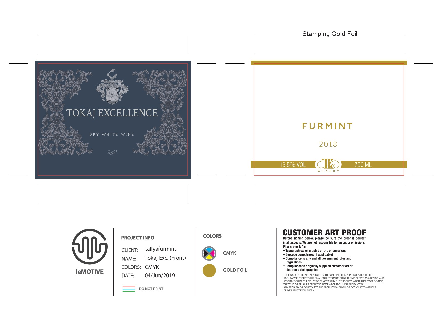 """""""Tokaj Excellence"""" winery needs a classic, natural wine label template."""