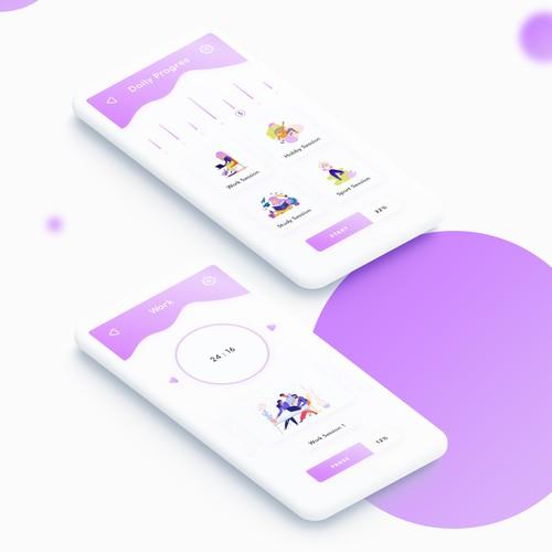 Pomodoro app UI & UX design