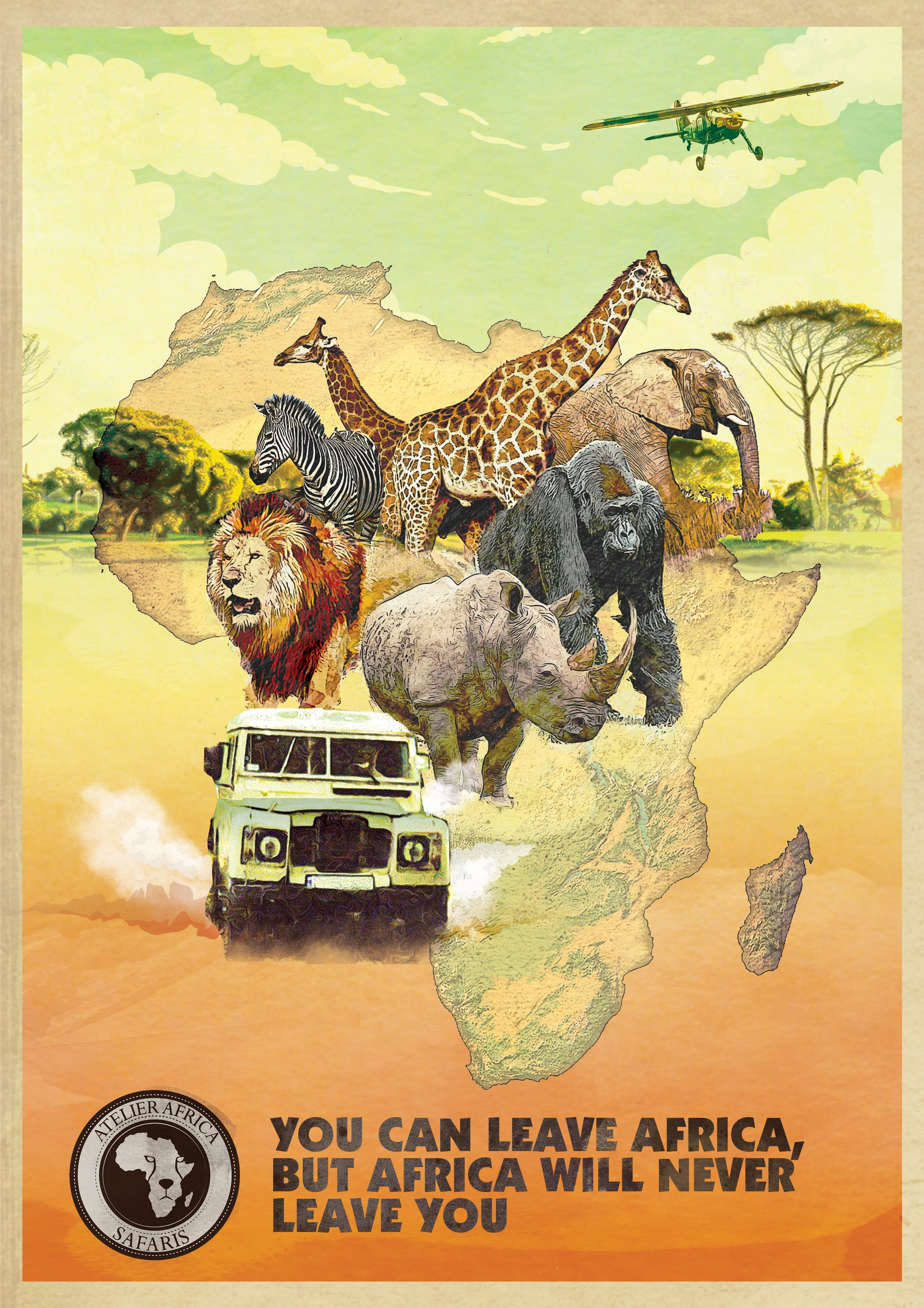Desigs/Draw an old style Africa Safari poster/ad