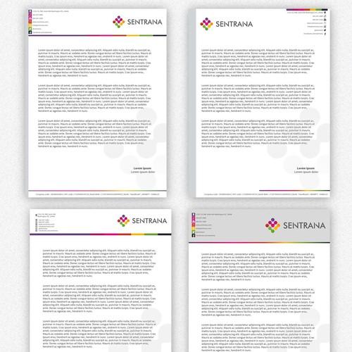 Letterhead design for Sentrana