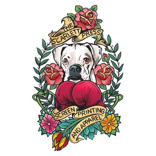 Tattoo style illustration design for T-shirt