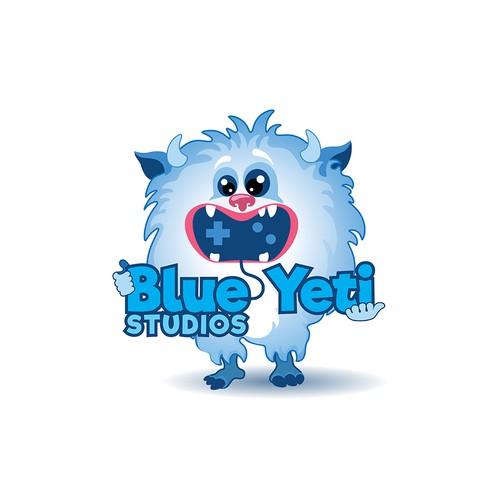 Blue Yeti Studios logo design.