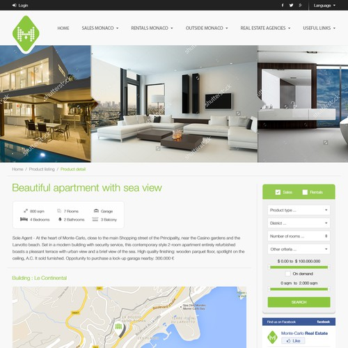 Redesign Real Estate Portal/Website