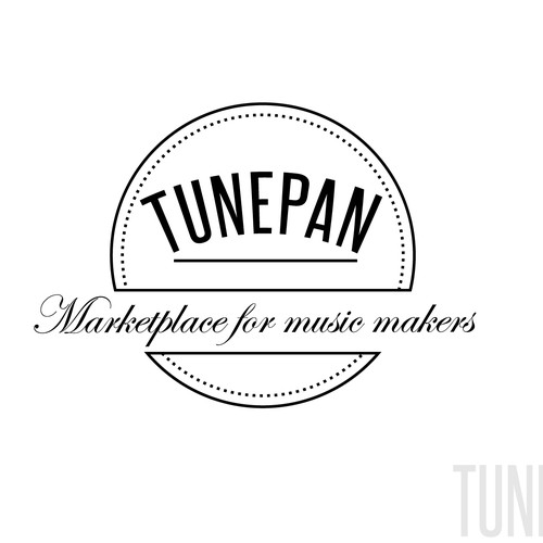 Logo for a music store