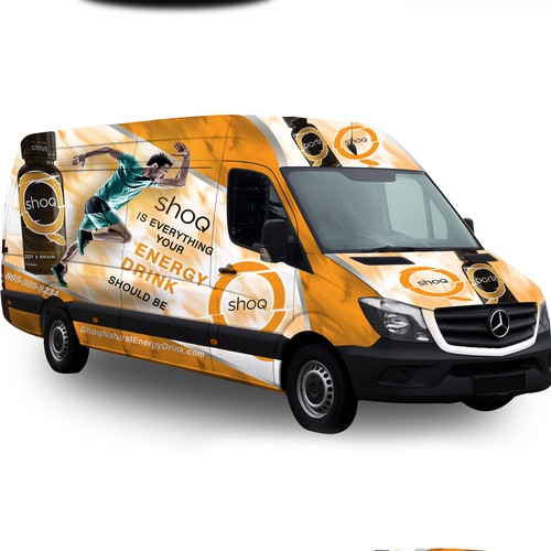 Energy Drink Van Wrap Design
