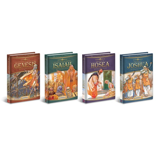 Book cover layout for Illustrated books of the Bible