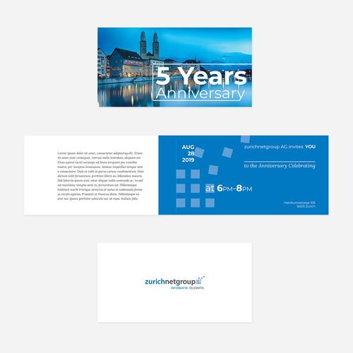 Design an invitation card for our 5th anniversary celebration