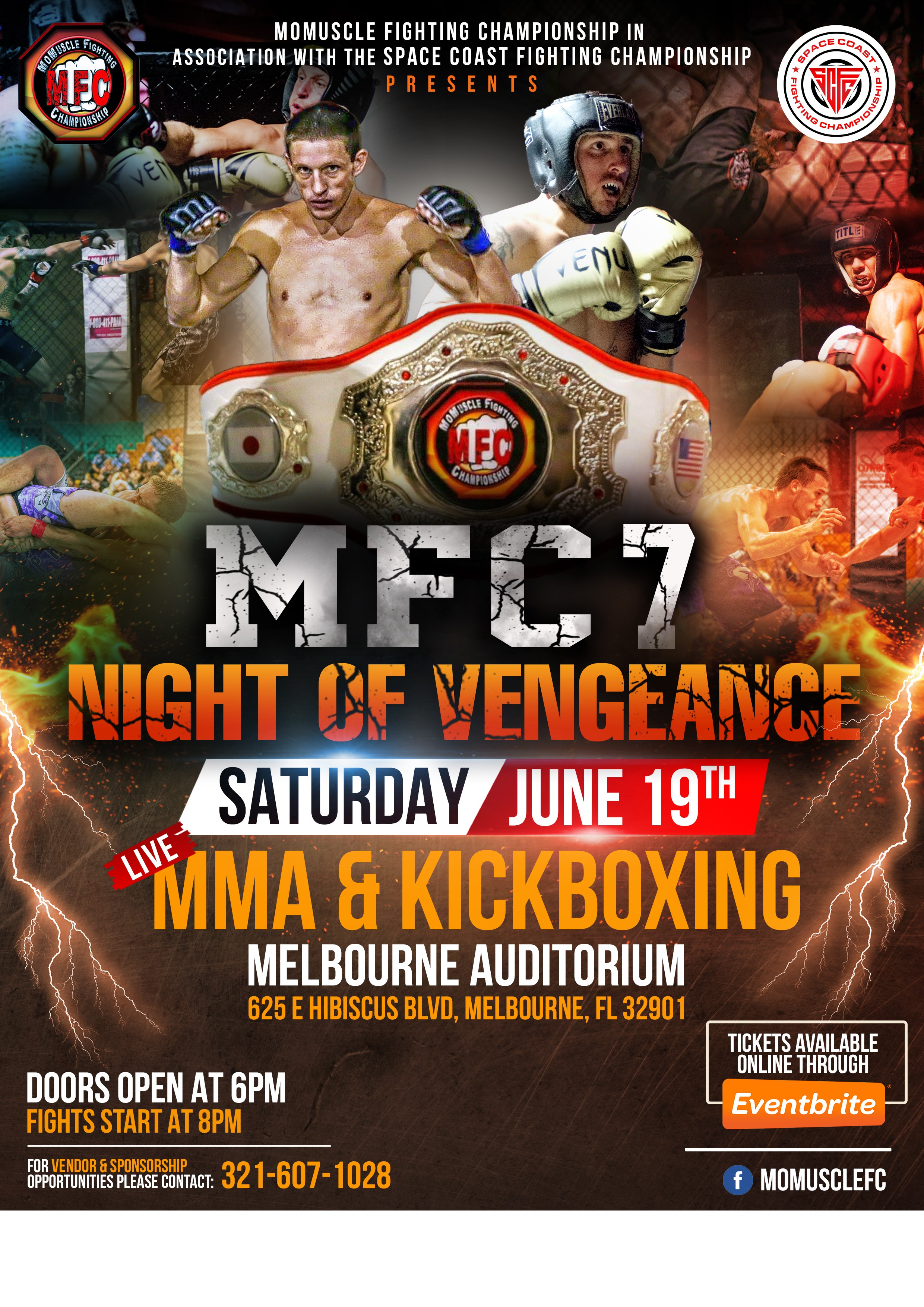 Creat our next Amatuer MMA Event Flyer- MFC 7: Night Of Vengeance
